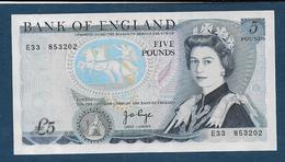 ROYAUME UNI  -   Billet  5 Pounds - 1952-… : Elizabeth II