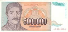5000000 (5 Mio) Dinar Jugoslawien 1993 UNC (I) - Jugoslawien