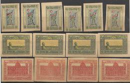 9R-998: 14 Zegels: 6x N° 18 (X):no Gum + 4x N°20: XXX(M.N.H) + 4x N°36 (X) No Gum - Aserbaidschan