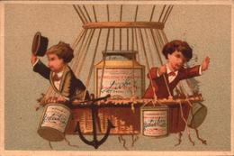 Chromo Liebig S42 Lith. Testu & Massin, Enfants, Ballon, Montgolfière - Bill-863 - R/V - Liebig