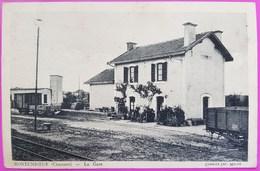 Cpa Montemboeuf La Gare Rare Carte Postale 16 Charente - Autres Communes