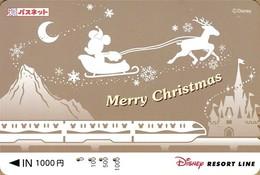 "Japan - Japanese Card DISNEY RESORT LINE. Carte DISNEY RESORT LINE Du Japon. ""Mickey"". - Disney"