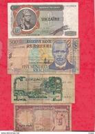 Autres-Afrique 8 Billets   5 Dans L 'état 2 état Moyen Et 1 Usagé  Lot N °12 - Billetes