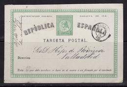 España 1875. Tarjeta De Madrid A Valladolid. Ed 6i. - Cartas