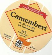 étiquette De Fromage:   Camembert  :  De  Normandie - Fromage