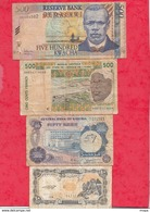Autres-Afrique 7 Billets   3 Dans L 'état 3 état Moyen   Et 1 Usagé  Lot N °15 - Billetes