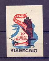 CINDERELLA ERINNOFILIA Viareggio Manifestazane Filatelica 1946  (GIUGN1900B28) - Erinnofilia