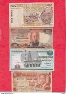Autres-Afrique 8 Billets   3 Dans L 'état 2 état Moyen   Et 3 Usagés  Lot N °16 - Billetes