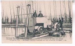 GURRE 1914-1916  FUSILLIERS MARINS  TRAVERSANT    LE CANAL  DE L YSER   TBE     BE28 - Belgium