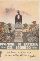 Cartolina  - Postcard / Viaggiata -   Sent -  Divisione Di Fanteria Del Brennero. - Regimenten