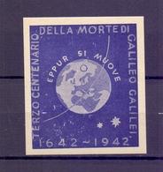 CINDERELLA ERINNOFILIA GALILEO GALILEI CENTENARIO 1942   (GIUGN1900B30) - Erinnofilia