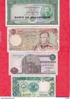 Autres-Afrique 8 Billets   4 Dans L 'état 1 état Moyen   Et 3 Usagés  Lot N °17 - Billetes