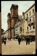 CPA 90 BELFORT N°1201 LA PLACE D'ARMES & L'EGLISE ST CHRISTOPHE ANIMEE COLORISEE AQUA PHOT L.V. & CIE PARIS - Belfort - Ville