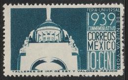 Mexico 1939 - Sc 746, 10cts - New York Fair - MNH - Mexico
