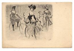 Jeune Fille à Vélo époque 1900.charme Et Glamour.bicycle.                                        .E.38 - Cyclisme