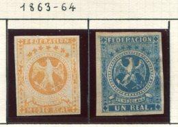 13148 VENEZUELA  N°10/11 */ °   1863/64  B/TB - Venezuela