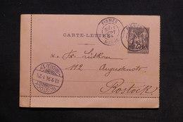 FRANCE - Entier Postal Type Sage De Fismes Pour L 'Allemagne En 1894 - L 31330 - Cartes Postales Types Et TSC (avant 1995)