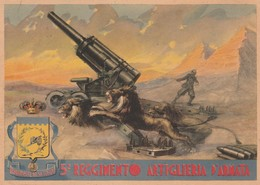 Cartolina  - Postcard / Viaggiata -   Sent -  5° Reggimento Artiglieria D'Armata. - Regiments