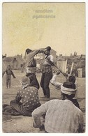 GREECE THESSALONIKI SALONICA ORIENTAL BELLY DANCE MEN DANCERS 1910s Vintage Postcard, SALONIQUE ETHNIC - Greece