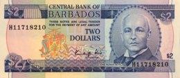 Barbados 2 Dollars, P-36 (1986) - UNC - Barbados (Barbuda)