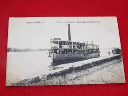"CONGO BELGE - STANLEYVILLE  -  Steamer "" Brabant ""  à Stanleyville - Congo Belge - Autres"
