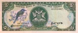 Trinidad 5 Dollars, P-37a (1985) - UNC - Sign.4 - Trinidad En Tobago