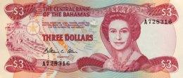 Bahamas 3 Dollars, P-44 (1984) - UNC - Bahamas