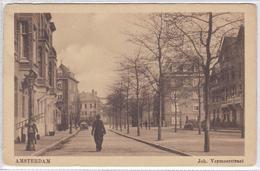 Amsterdam Joh. Vermeerstraat Volk Ramenlapper Met Ladder     1868 - Amsterdam