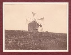 THOMAR Près De Moulin  PORTUGAL Photo Amateur 1932 Format Environ 7,5 Cm Sur 5,5 Cm - Lieux