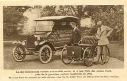 Voitures + Henri Et Edsel FORD   780 - Toerisme