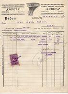 1928 YUGOSLAVIA, SERBIA, NOVI SAD, FACTORY INVOICE, FISKAL STAMP - Invoices & Commercial Documents