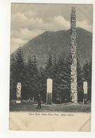 SITKA, Alaska, USA, Totem Poles, Indian River Park, Pre-1908 UB Postcard - Sitka