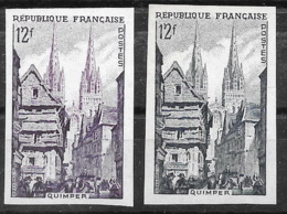 France  1954 - Normal Avec Variété En Non Dentelées Du N° YT 974 -  Neuf **, MNH - Clocher Plus Foncé - Imperforates