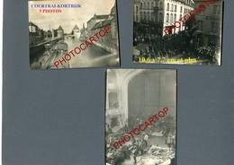KORTRIJK-Courtrai-5x PHOTOS Allemandes Non Collees-Guerre 14-18-1WK-BELGIQUE-BELGIEN-Flandern- - Kortrijk