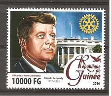 GUINEA - 2016 ROTARY Rotariani Famosi: JOHN F. KENNEDY Presidente Usa  Nuovo** MNH - Rotary, Lions Club