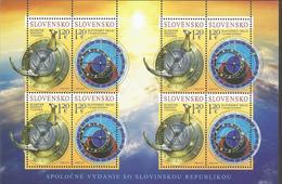 SK 2019-680-1 Joint Issue With Slovenia:  SLOVAKIA, MS, MNH - Blocks & Kleinbögen
