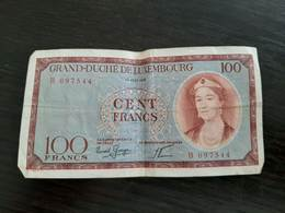 Billet 100 Francs Luxembourg 15 Juin 1956 - Luxembourg