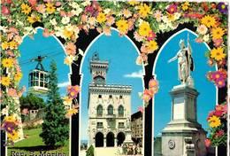 REPUBBLICA DI SAN MARINO - FUNIVIA - STATUA - PALAZZO  (RSM) - San Marino