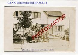 GENK-WINTERSLAG-CARTE PHOTO Allemande-Guerre 14-18-1WK-BELGIQUE-BELGIEN- - Genk