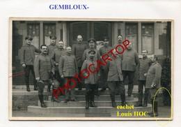 GEMBLOUX-CARTE PHOTO Allemande-Guerre 14-18-1WK-BELGIQUE-BELGIEN- - Gembloux