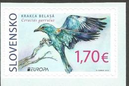 SK 2019-683  EUROPA CEPT Rare Birds - Coraccas Gramulus SLOVAKIA, 1 X 1v SELBSTICK, MNH - 2019