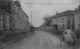 Hermonville : Rue De La Gare Et Route De Reims - Francia