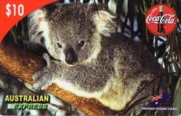 CARTE PREPAYEE  AUSTRALIE $10  COCA-COLA  Koala - Australie