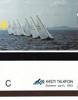ESTONIA(Alcatel) - Silhouette Of Tallin(reverse C), First Issue, Tirage 7500, Mint - Estonia