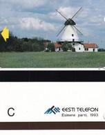 ESTONIA(Alcatel) - Adavere Windmill(reverse C), First Issue, Tirage 7500, Mint - Estonia
