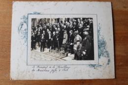Guerre 1914 1918  Le President De La Republique Joffre Et Foch   Photo  Inedite  WWI - Guerra, Militares