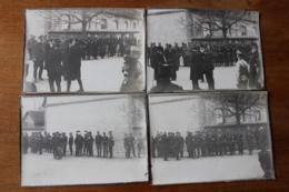 Guerre 1914 1918  Rare Serie Remise De Decoration à Joffre Du President Poincaré  Identifiés WWI - War, Military