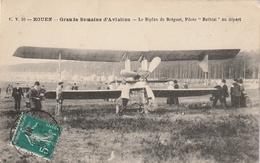 76 Rouen. Grande Semaine De L'Aviation. Biplan Breguet. Pilote Bathiat - Rouen