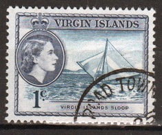 British Virgin Islands 1956 Queen Elizabeth Single 1 Cent Stamp From The Definitive Set. - British Virgin Islands