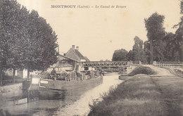45 /  Montbouy :  Le Canal De Briare Péniche De Bois   /// REF  JUIN .19 - France